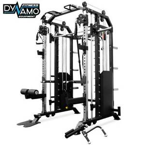Functional Trainer Smith Machine Squat Rack & 2 x 90kg Weight Stacks