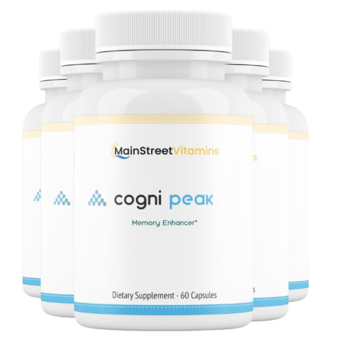 5 Cogni Peak Memory Enhancer -  60 Capsules -300 Capsules - 5 Bottles