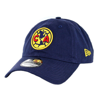 New Era 9Twenty Club America Strapback Hat (Navy) Men's Aguilas Soccer Cap ()