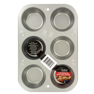 Steel Muffin Pan (6 Cup Muffin Cooking Pan Steel Bakeware Baking Muffins &)