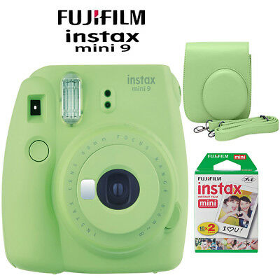 (Fujifilm Instax Mini 9 Instant Camera Lime Green Kit w/ Case & Twin Pack Film)
