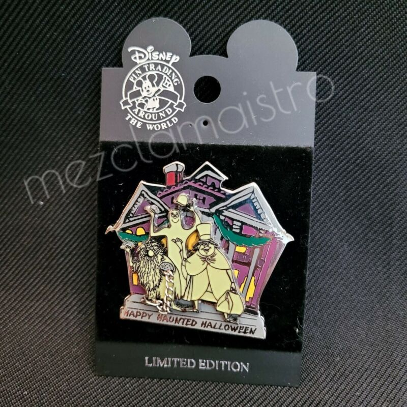Disney 2003 Haunted Mansion Happy Haunted Halloween Hitchhiking Ghosts Pin LE