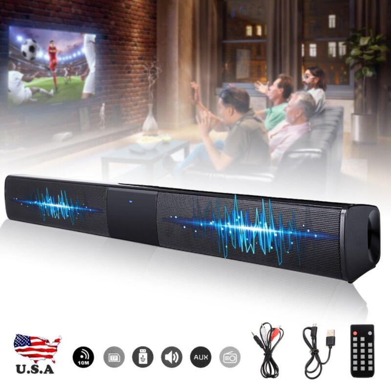 4 Speakers Sound Bar 3D Surround Bar Home Wireless bluetooth