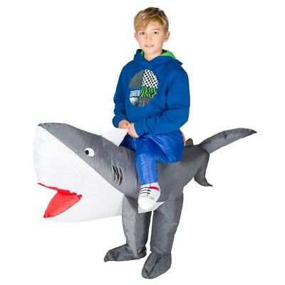 Kids Inflatable Shark Animal Scary Fish Sea Funny Halloween Fancy Dress Costume