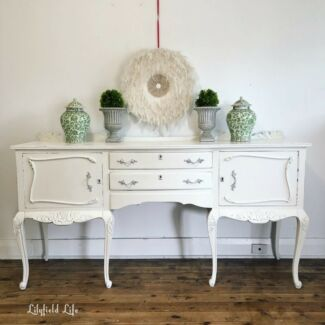 French style hand painted vintage sideboard