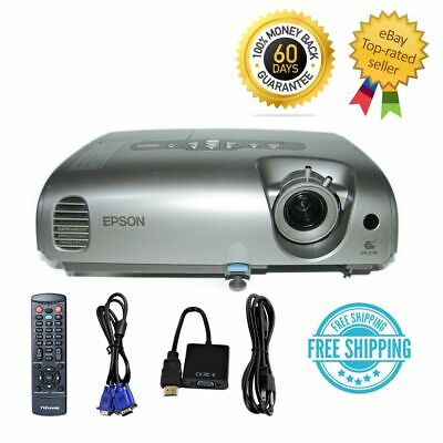 Epson 82C 3LCD Projector XGA Portable HD 1080i HDMI adapter w/Remote