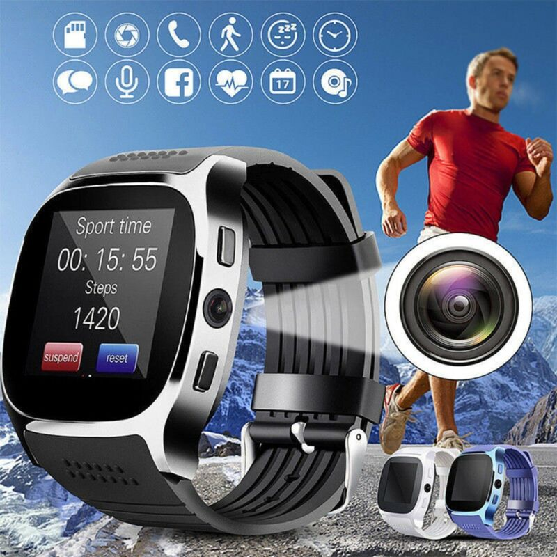 bluetooth Smart Watch Phone Mate SIM FM Pedometer For Androi