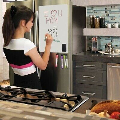 Magnetic Fridge Whiteboard Dry Erase Sheet Set For Kitchen Refrigerator