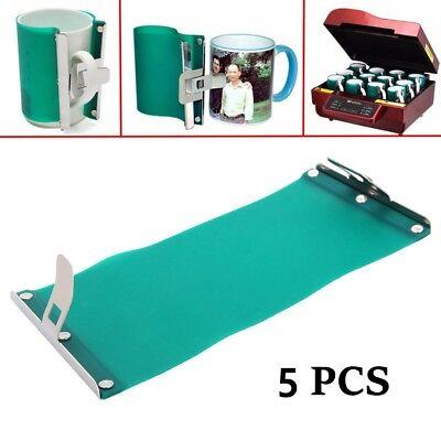 5pcs 3d Sublimation Silicone Mug Wrap 11oz Coffee Cup Clamp Fixture Heat Press