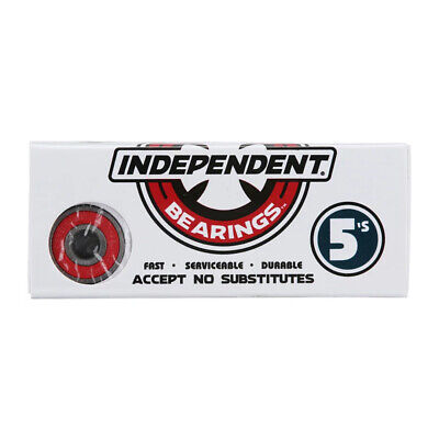 "Independent Truck Co ""Genuine 5s"" Bearings (Red) Skateboard Deck Fast Bearings"