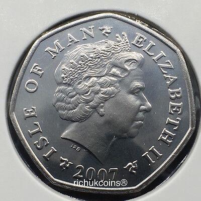 2007 IOM T.T. Sidecar Commeorative Diamond Finish 50p Coin