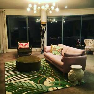 Quality Sanderson extra large palm print wool rug