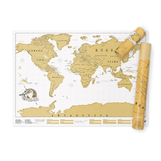 Scratch Map personalised world map poster Luckies - where you have been