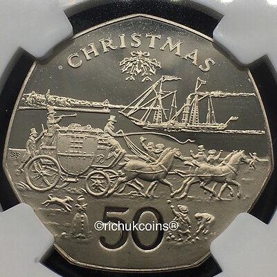 1980 IOM Xmas 50p Diamond Finish Mule Coin 'Stateless'