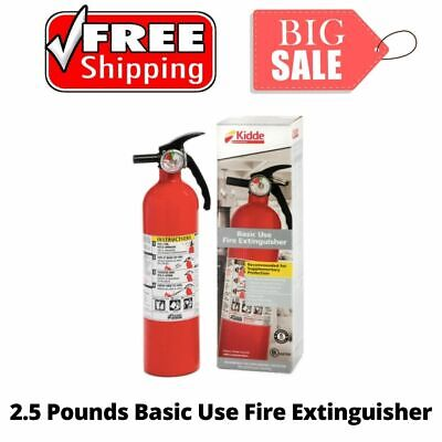 Lightweight Kidde 1a10bc Basic Use Fire Extinguisher For Home Safety 2.5 Lbs