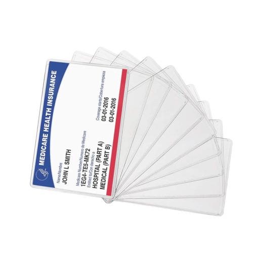 Medicare Card Holder Protector Sleeve Clear 6 Mil 10  G-3077
