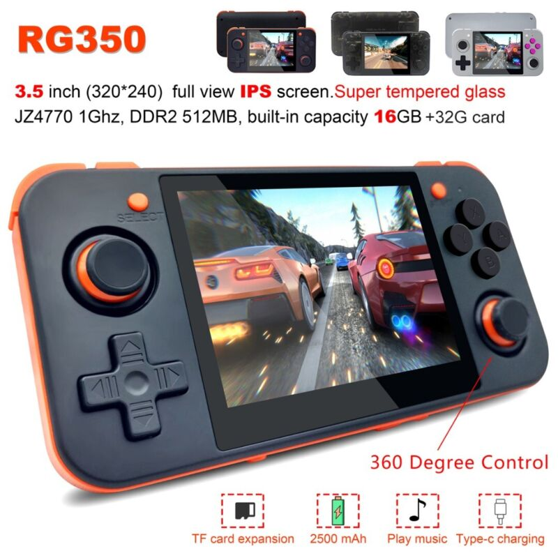 RG350 IPS Retro Handheld 350 Upgrade Video game console With