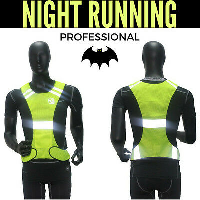 Sport Reflective Vest Security Gear Stripe Night Running Walking Cycling Safety