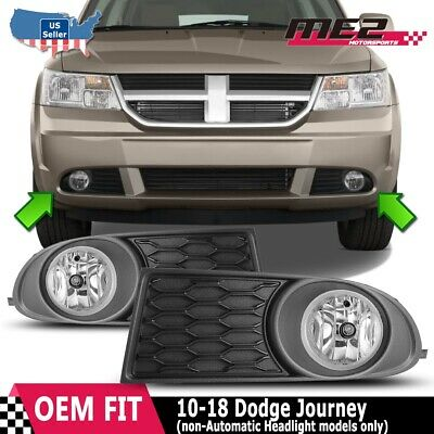 For Dodge Journey 10-18 Bumper Driving Fog lights Lamps Replacment Pair Clear