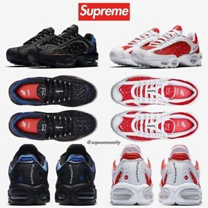 Supreme x Nike Air Max Tailwind IV Black DS Size 7, 8.5, 11