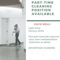 Part time evening and/or weekends shifts available.