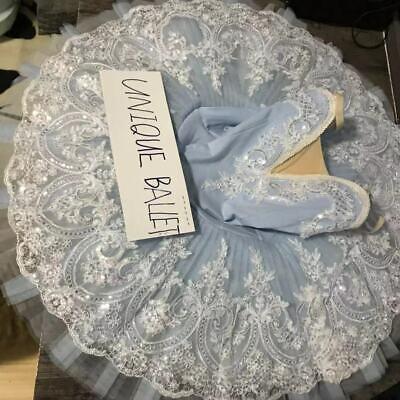 Adult Professional Ballet Tutu Costume Ice Queen Snow Queen Pancake Dance Dress