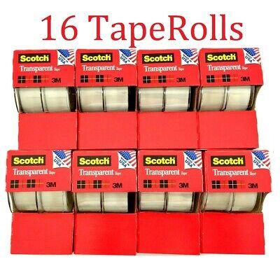 16pc 3m Scotch Tape Clear Office Transparent 34 250 W Desktop Dispenser Lot