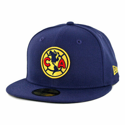 New Era 59Fifty Club America Official Fitted Hat (Navy) Men's Aguilas Soccer Cap ()