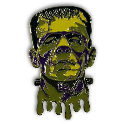 Green Yellow Purple Frankenstein's Monster Enamel Lapel Pin Hat Pin Collectible