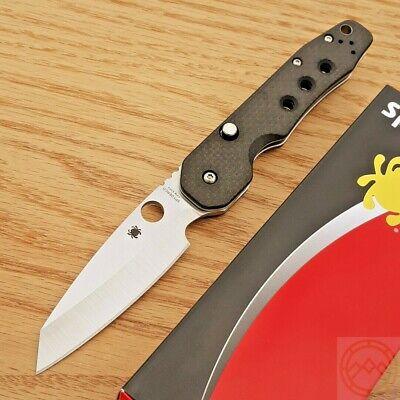 """Spyderco Smock Folding Knife 3.5"""" CPM S30V Steel Blade Carbon Fiber/G10 Handle"""