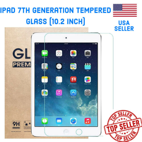 iPAD 7th Generation 10.2 (2019/2020 NEW) TEMPERED GLASS (PREMIUM QUALITY)