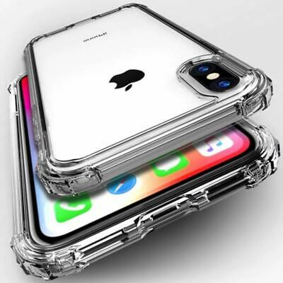 For iPhone Case 5 8 7 6 XS XR Bumper Shockproof Clear Silicone Protective Cover