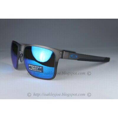 Oakley Holbrook Metal POLARIZED Sunglasses OO4123-0755 Gunmetal W/PRIZM Sapphire