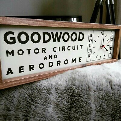 Vintage Style Goodwood Revival/ Festival of Speed Motorsport Motor Circuit Clock