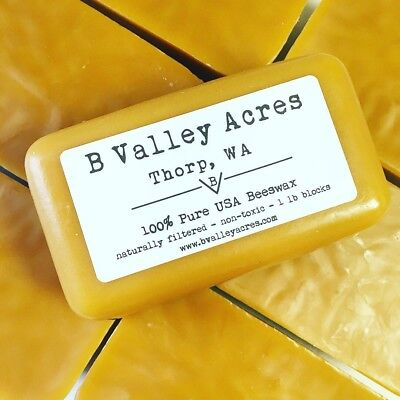 20 1 Pound Blocks of Pure USA Triple Filtered Beeswax, bulk pure beeswax blocks