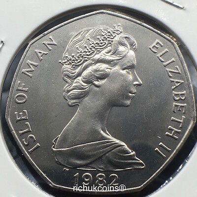 1982 T.T. Standard Finish 50p Coin with AA die letters