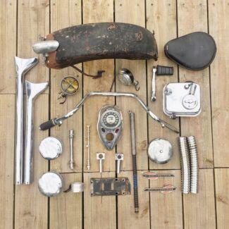 Vintage harley parts pile #2 flathead knucklehead panhead Shovelhead