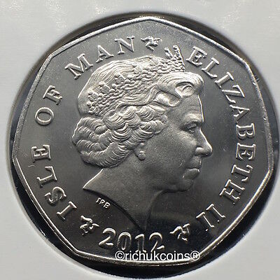 2012 Enduro Motorcycle 50p coin without die marks
