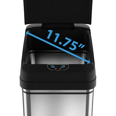 13 Gallon Touch-Free Sensor Automatic Stainless-Steel Trash Can Kitchen New  50R