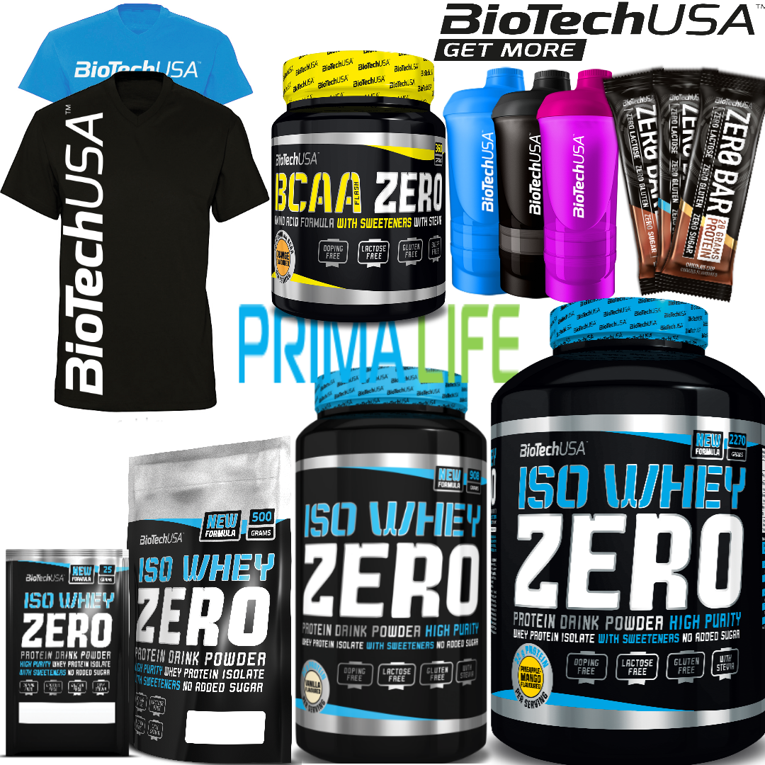 Biotech USA  ISO WHEY Zero Sugar Protein Isolate IsoWhey WPI Gluten Lactose Free