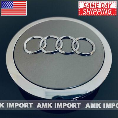 ONE Grey Chrome Wheel Rim Center Replacement Hub Cap for Audi 69MM 4B0601170A