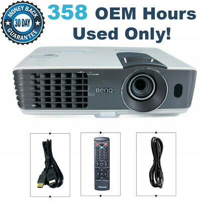 Benq MX711 DLP Projector 3200 ANSI HD HDMI bundle 358 OEM Hours Used Only!