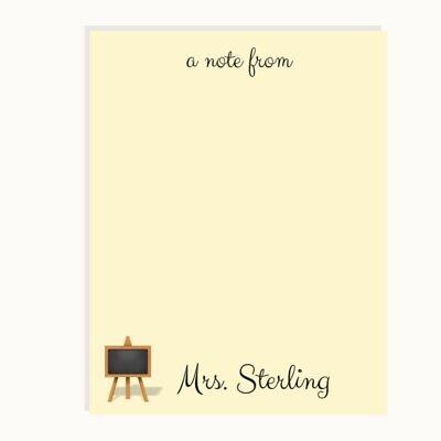Teacher Gift Note Pads Teacher Gifts Teacher Appreciation Personalized Notepads