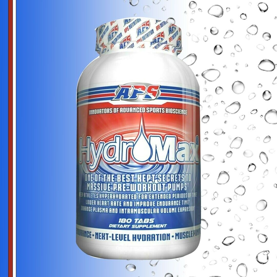 APS Nutrition HydroMax 180 tabs Pump, Vasodilator, Vascularity + FREE GARCINIA 1