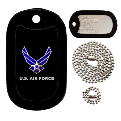 AIR FORCE LOGO - CUSTOMIZED - FULL SET - TAG-Z MILITARY DOG TAGS
