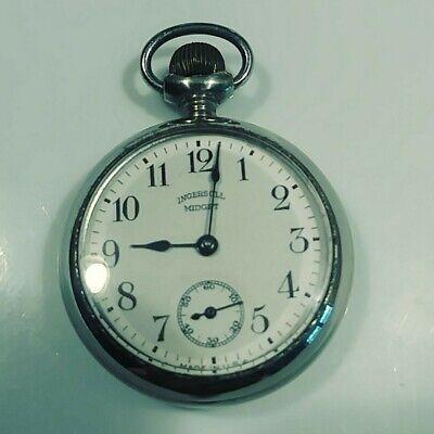NICE Ingersoll Midget Pocket Watch For Parts or Repair