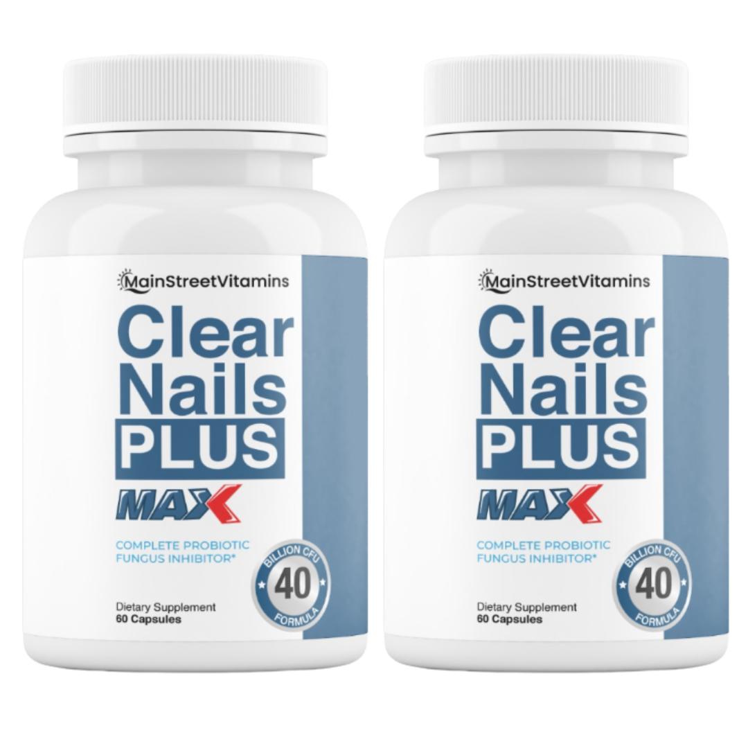 2 Clear Nails Plus Max 40 Billion CFU -  60 Capsules  -120 Capsules - 2 Bottles