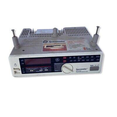 Vintage GE Spacemaker AM FM Radio Clock Counter Light 7-4230