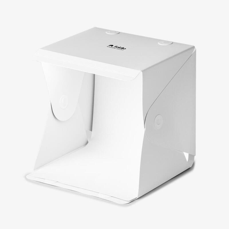 "Foldio1 10"" Original All in One Portable LED Strip Lightbox 3 Backdrops"