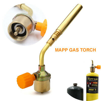 US Mapp Gas Turbo Torch Brazing Solder Propane Welding Plumbing New